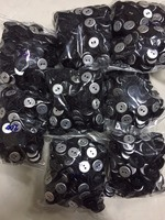 eyelet fabric-covered buttons (2 holes)  color: black