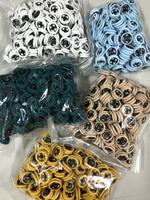 Fabric-covered snap buttons  color: black  size: 10 mm