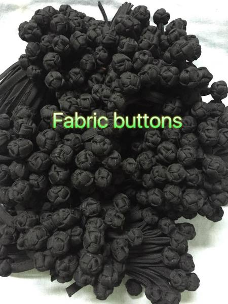 Hand-made Chinese knot button  color: black
